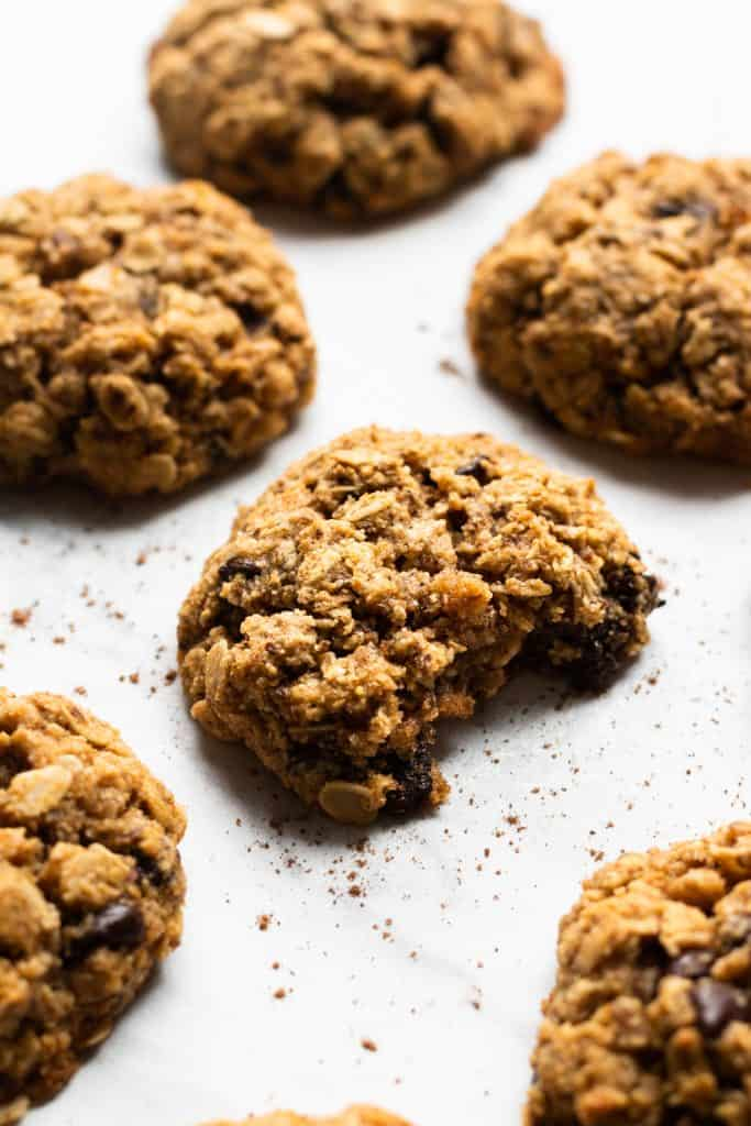 Oatmeal Pumpkin Chocolate Chip Cookies (Vegan + Gluten-Free)