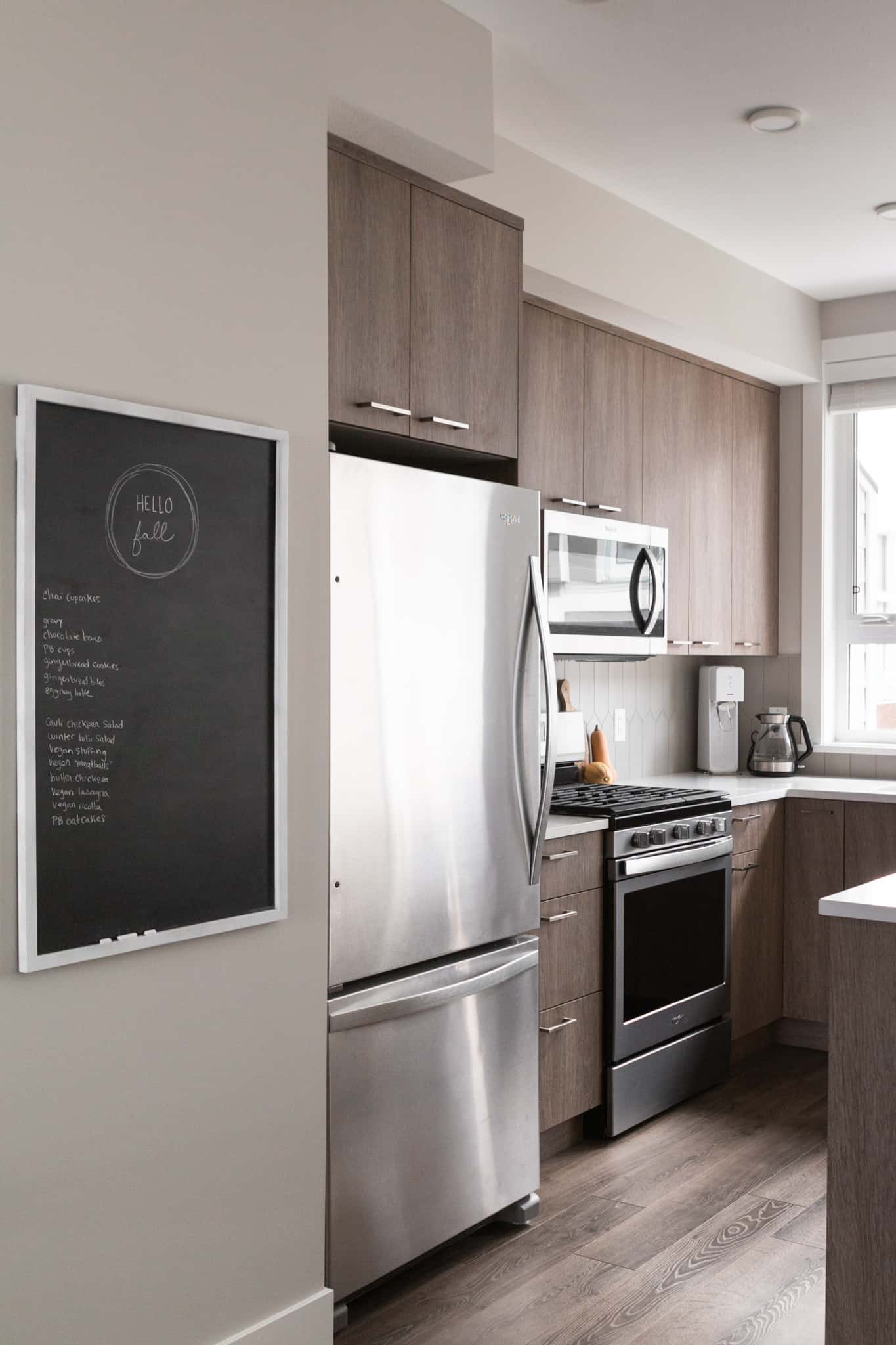 chalkboard and kitchen